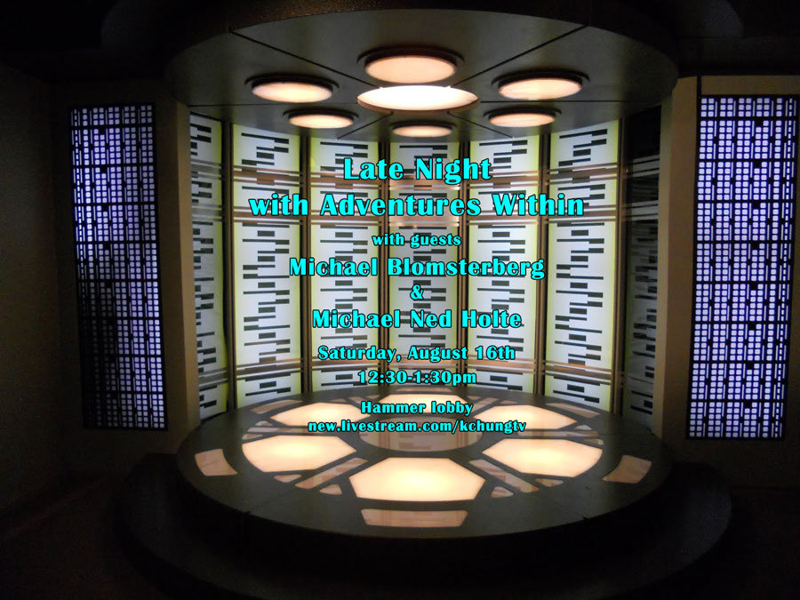 image of Star Trek transporter with overlaid text advertising the show